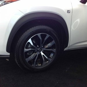 White NX F Sport Wheel